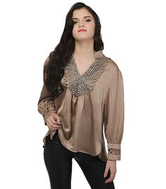 Studded top with major detailing, LOVE.    $61.00