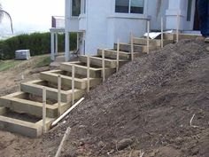 How to Build Outdoor Stairs Garden Element- no instructions