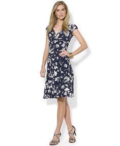 Lauren Ralph Lauren Printed Surplice Dress