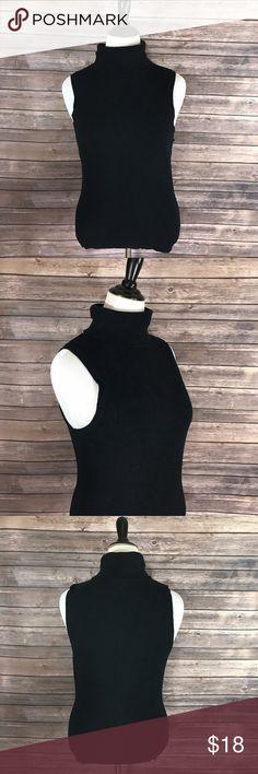 WHBM Sweater XL Black Sleeveless Turtleneck Solid White House Black Market Womens Sweater Sz XL Black Sleeveless Turtleneck Solid. Measurements: (in inches) Underarm to underarm: 19 Length: 25  Good, gently used condition White House Black Market Sweaters Cowl & Turtlenecks