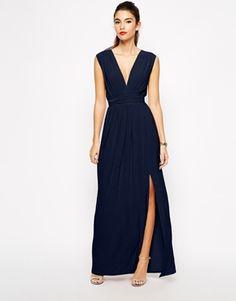 Love Plunge Neck Maxi Dress with Wrap Belt