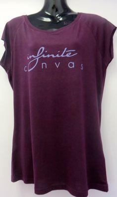 Women's purple bamboo logo shirt
