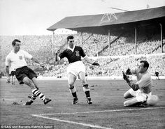 Jimmy Greaves, scoring in a 5-1 win over Wales in 1960