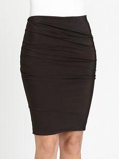 Akris - Draped Silk & Wool Pencil Skirt - Saks.com