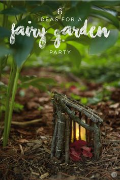 Host an enchanting fairy garden party in your backyard for a little girl's birthday. She'll be delighted by this magical party theme complete with mini DIY fairy houses and food fit for a real fairy! Fairy Crafts, Fairy Garden Houses, Miniature Fairy Gardens, Garden Accessories, Amazing Gardens, Glass Garden, Garden Art, Garden Ideas, Blog