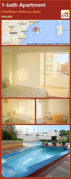 1-bath Apartment in Cala Mayor, Mallorca, Spain ►€64,000 #PropertyForSaleInSpain