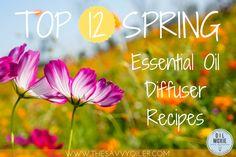TOP 12 SPRING Essential Oil Diffuser Recipes | The Savvy Oiler | WWW.THESAVVYOILER.COM