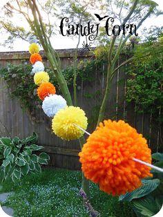 Candy Corn Pom Pom Garland
