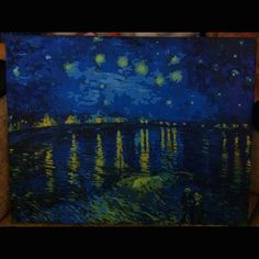 Да простит меня #ВанГог  #ЗвезднаяночьнадРоной #VincentvanGogh #VanGogh #StarryNightOvertheRhone Instagram Posts, Painting, Art, Painting Art, Paintings, Kunst, Paint, Draw, Art Education