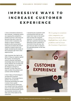 IMPRESSIVE WAYS TO INCREASE CUSTOMER EXPERIENCE #Promotions #Business #Marketing #PromotionalGifts