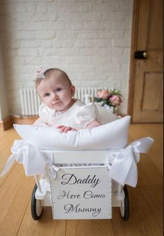 Baby wedding cart to bring your little one down the aisle! For Flowergirl Bridesmaid or pageboy  Child friendly wedding: