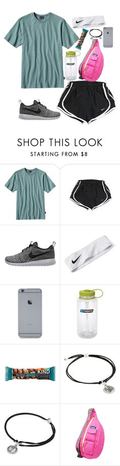 """""""hiking today"""" by calliejanee ❤ liked on Polyvore featuring Patagonia, NIKE, Nalgene, Alex and Ani and Kavu"""