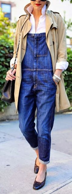 Current/elliott Blue Denim Comfy Rolled Cuff Overall by Atlantic - Pacific