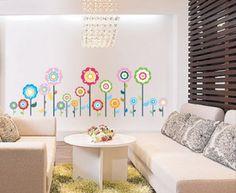 Large WallStickerUSA Flower Lollipop Wall Sticker Decal - http://decorwalldecals.com/large-wallstickerusa-flower-lollipop-wall-sticker-decal/