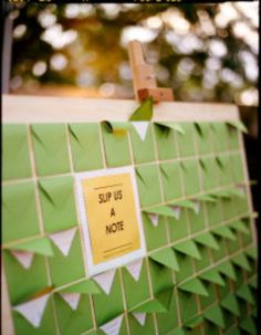 Wedding Guest Book Idea - I love the green!