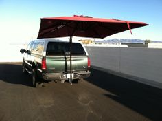 Receiver hitch based awning