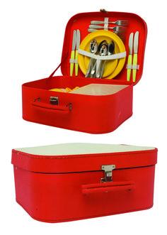 1970 -Une valise de picnic, années soixante-dix, collection privée © Solo-Mâtine Suitcase, Collection, Furniture, Suitcases