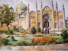 Блог Резы Саджади   Курош Аслани, родившийся в 1971 г. - иранский мастер акварели из Исфахана