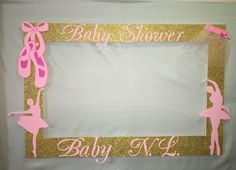 Ballerina Booth Frame to Take Pictures Royal Princess Baby Shower Pink Gold | eBay