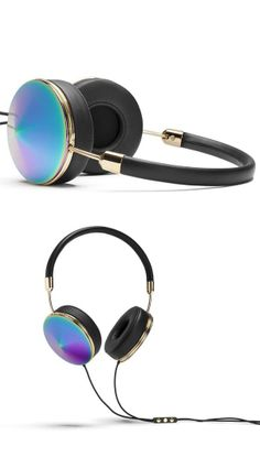 Iridescent head phones #product_design