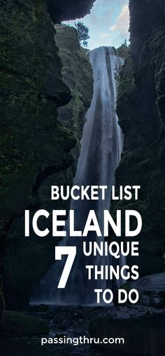 Go off the beaten path for bucket list items in Iceland. #bucketlist #travel #Iceland