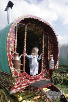 gypsy caravan images | Gypsy Caravan Photograph by Paul Felix - Gypsy Caravan Fine Art Prints ...