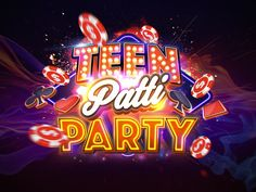 teenpattiparty_logo_by_weirdsgn.png by weirdsgn studio Logos, Typography Logo, Game Ui Design, Logo Design, Party Logo, Free Printable Flash Cards, Composition Art, Game Title, Design Tattoo