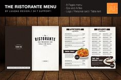 The Ristorante Menu by Luuqas Design on Creative Market