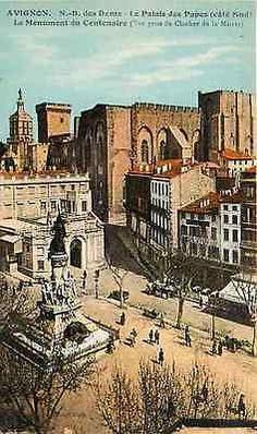 Avignon France 1906 Palace of Popes Centennial Monument Antique Vintage Postcard