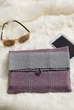 You can whip up this cute clutch on your pin loom in a weekend. Just the right size to hold a favorite book or a tablet when travelling, this sophisticated sleeve is the perfect anytime accessory. Get the instructions in Easy Weaving with Little Looms 2017!