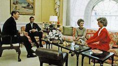 Диана и Чарльз в гостях у супругов Рейган