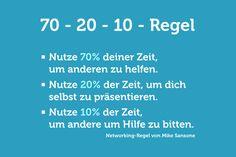 Netzwerken: Die 70-20-10-Regel   Karrierebibel.de