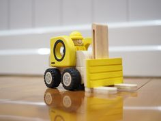 Wooden Forklift - Road Vehicles by I'm Toy