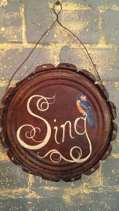 Hey, I found this really awesome Etsy listing at https://www.etsy.com/listing/186092640/hand-painted-sing-sign-with-bluebird-on