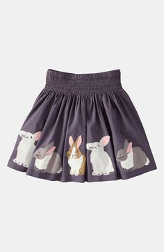 """Mini Boden Appliqué Skirt (Toddler) available at Nordstrom -- super cute!  And, since our last name means """"rabbit,"""" I love it even more!!"""