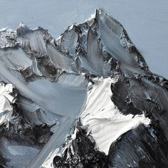 Conrad Jon Godlys Abstract Mountains Drip from the Canvas painting mountains landscapes abstract
