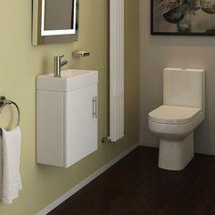 Our Bathroom Furniture from Victorian Plumbing -Minimalist Cloakroom Suite Shower Room, Bathroom Furniture, Small Toilet Room, Small Bathroom, Cloakroom Suites, Basin Unit, Cloakroom Toilet, Cloakroom Vanity Unit, Vanity Units