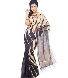 Buy Designer black handloom sarees silk saree hand-woven-saree online