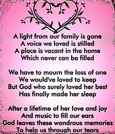 In loving memory of my Mom 5/24/14. This will be my first Mother's Day without her. She passed shortly after and my heart still breaks. I Love You Mom and Miss You So Very Much.