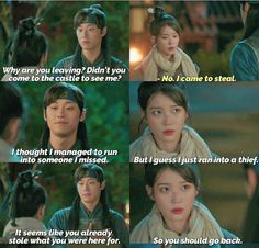 A flirty way to confess his love 😘Episode 8 Korean Dramas, Korean Actors, Drama Tv Shows, Korean Drama Quotes, Korean Shows, Drama Memes, Funny Scenes, Movie Lines, Moon Lovers