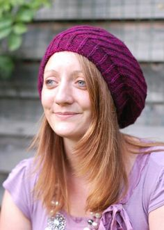 Woolly Wormhead - Elsica - knitting pattern for spiral beret
