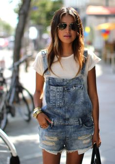 { distressed overalls }