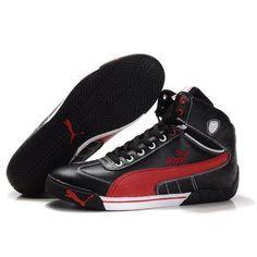 a6495a382a8 Puma Michael Schumacher High Tops Black Red Mens Puma Shoes