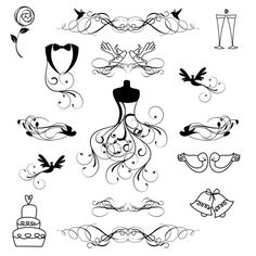 Wedding Clip Art Clipart Wedding Silhouettes Clip by PinkPueblo, $6.00