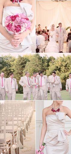 Pink & champagne wedding!
