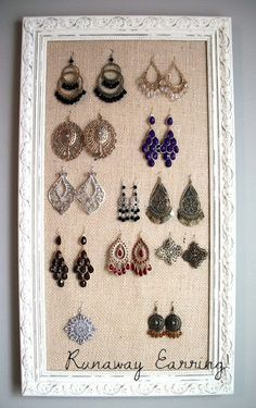 Love this earring holder!