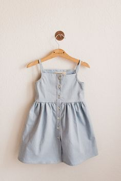Pips and Poppy Heather Dress in Sky Blue Cute Kids Fashion, Cute Outfits For Kids, Girl Fashion, Diy Vetement, Baby Kids Clothes, Baby Dress, Girls Dresses, Casual, Solo Travel