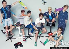 2014.08, Singles, GOT7, Jr., Mark, JB, Youngjae, BamBam, Yugyeom, Jackson