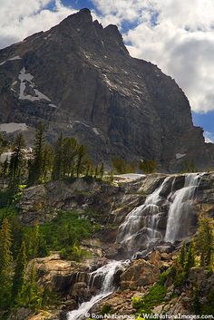 Shoshoko Falls in Avalanche Canyon, Grand Teton National Park, Wyoming; photo by Ron Niebrugge