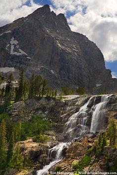 Shoshoko Falls in Avalanche Canyon, Grand Teton National Park, Wyoming; photo by Ron Niebrugge